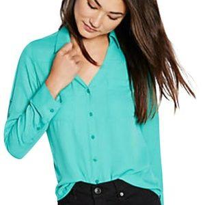Express mint green portofino blouse